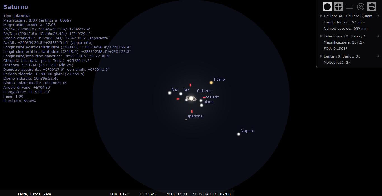 simulare un telescopio con stellarium